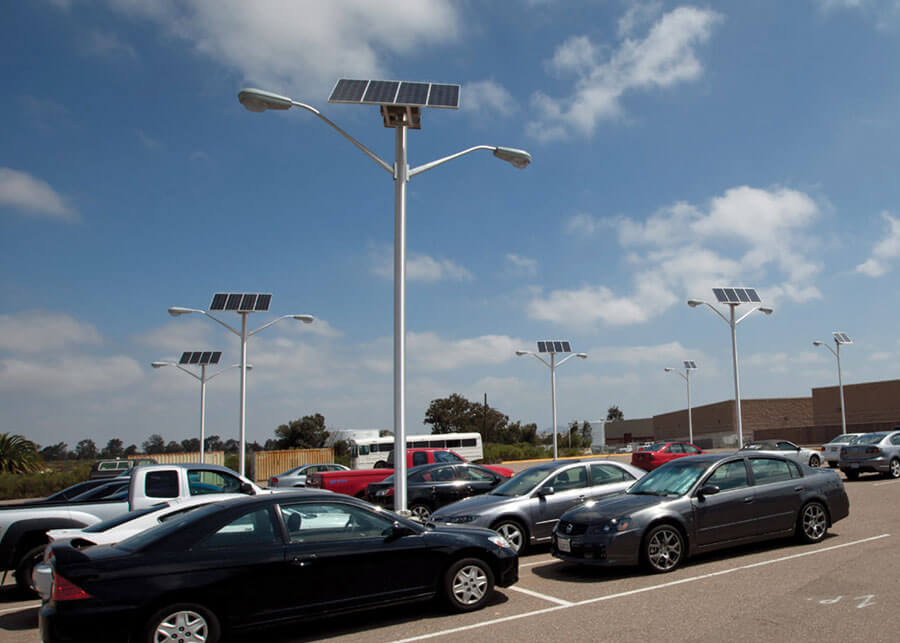 commercial solar powered led parking lot lighting systems by sepco