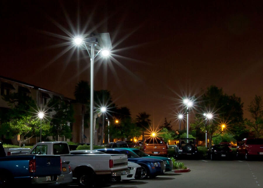 Commercial solar powered led parking lot lighting systems by sepco mcas beq solar powered led parking lot aloadofball Image collections