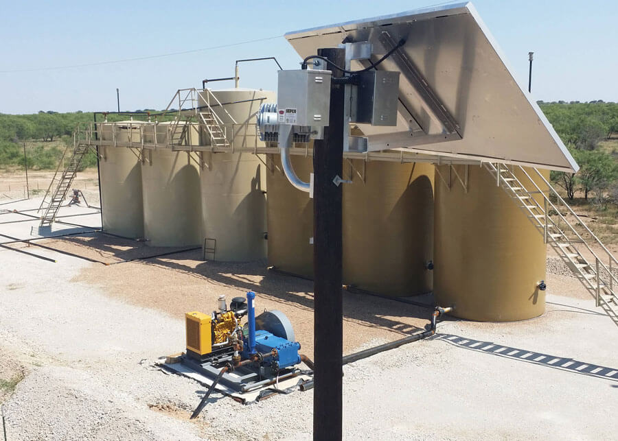 Breckenridge Water Tanks Solar Security Lighting Overview