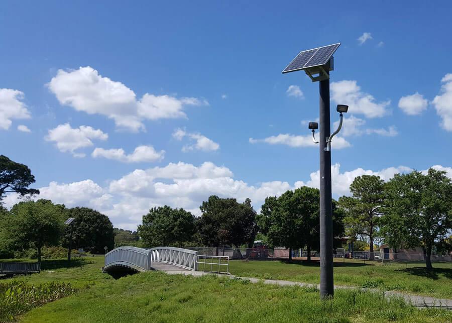 Salerno Retrofit SolarRFL Style Solar Flood Area Light System
