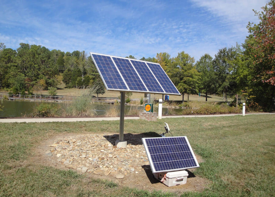 ORNL Solar LED Bollard Walkway Light