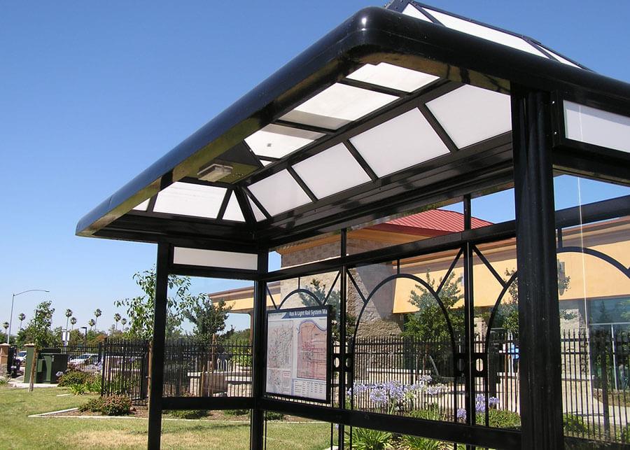 Clear Channel California SolarTransit Solar Bus Shelter Light