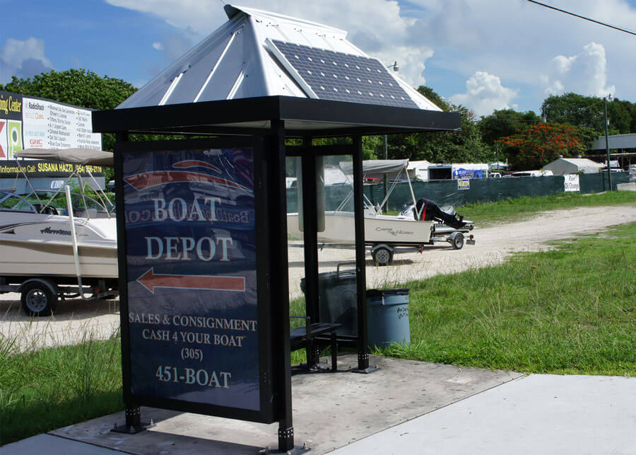 Solar Powered LED Bus Stop & Shelter Lighting Systems