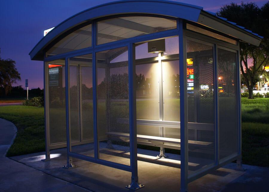 Martin County Solar LED Bus Shelters