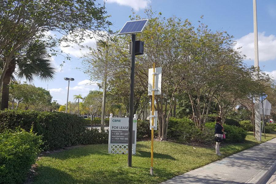 Coconut Creek SolarTransit Solar Bus Stop Light System