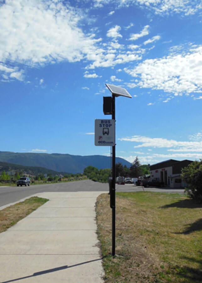 ECO Transit Solar Powered LED Bus Stop Light