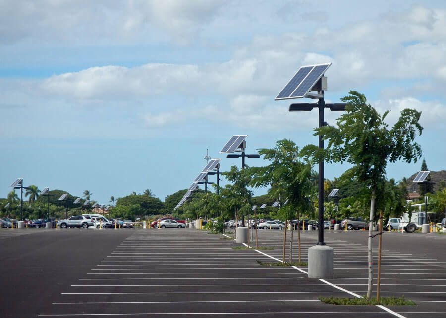 Commercial solar powered led parking lot lighting systems by sepco ko olina golf course solar led motion activated solar parking lot mozeypictures Images