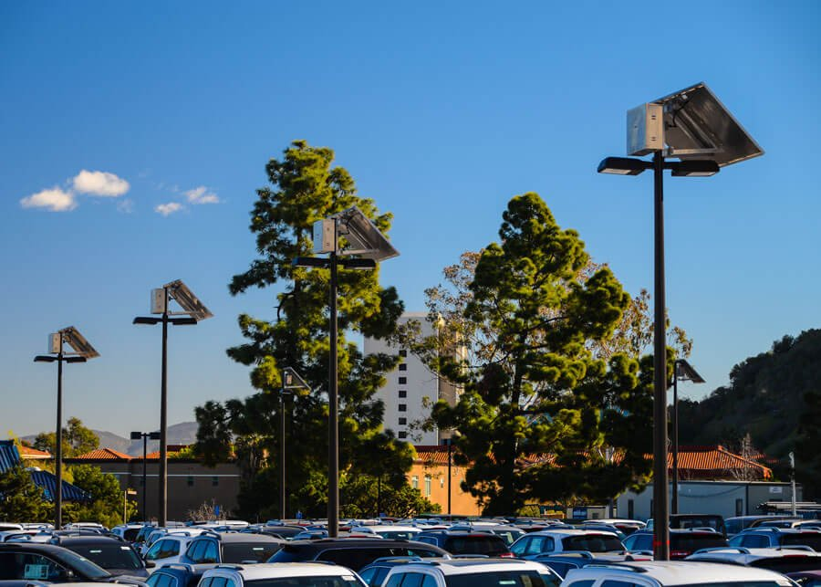 Midway Dodge SolarRatio Style Solar LED Parking Lot Lighting Systems