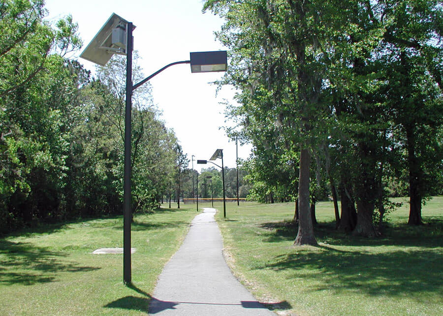 Solar Powered LED Outdoor Light for Walkways