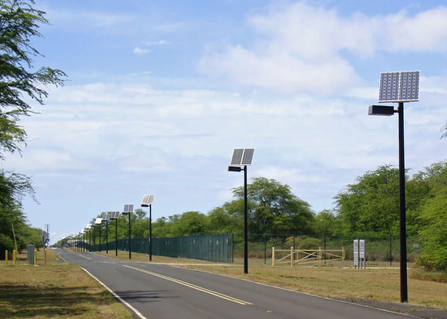 PMRF Solar Powered Street Lighting