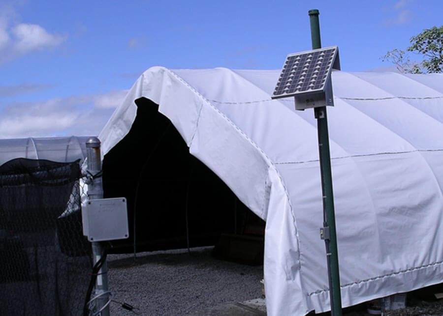 USDA ARS Temporary Canopy Solar LED Light System