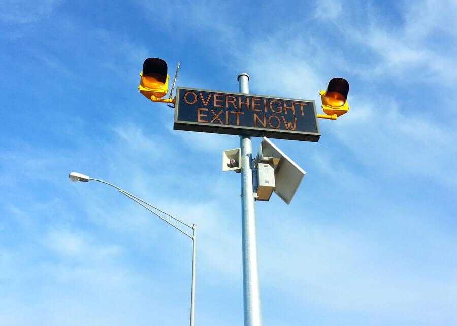 Vehicle Overheight SolarFlasher Solar Warning System