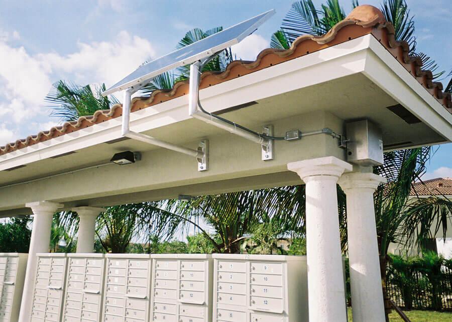Solar Lighting for Mailbox Cluster
