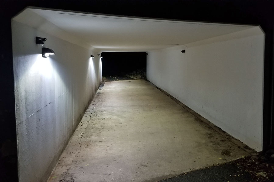 Oakland Mills Pedestrian Tunnel Solar LED Walkway Lighting SolarRWL