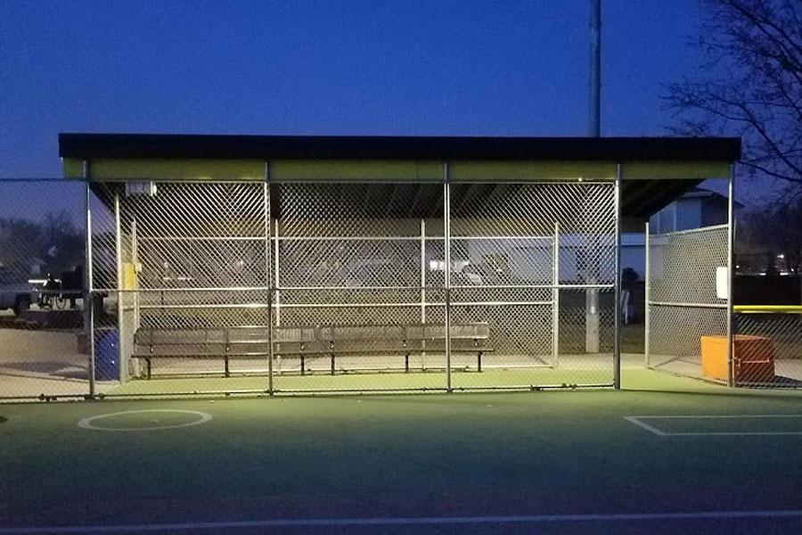 Tinley Park Dugout SolarRWL Small Area Solar Lighting