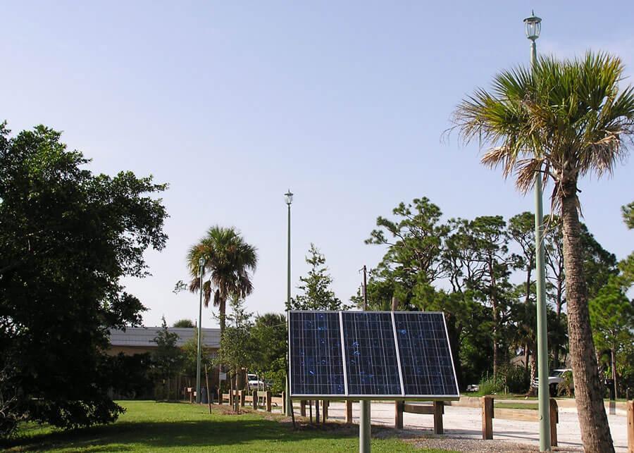 Port Salerno Community SolarLondon Style Solar Lighting System