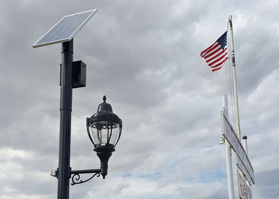 Washington Fair Grounds Decorative Solar Lighting