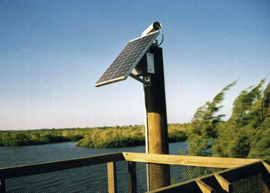Off Grid Solar PV for Camera and WiFi Applications