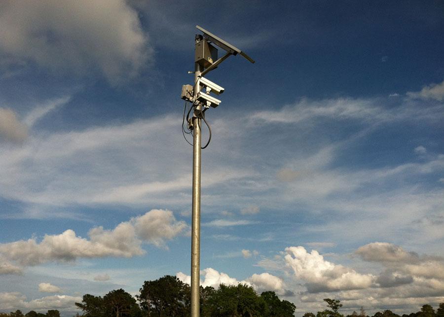 Golf Course Solar Powered Camera System