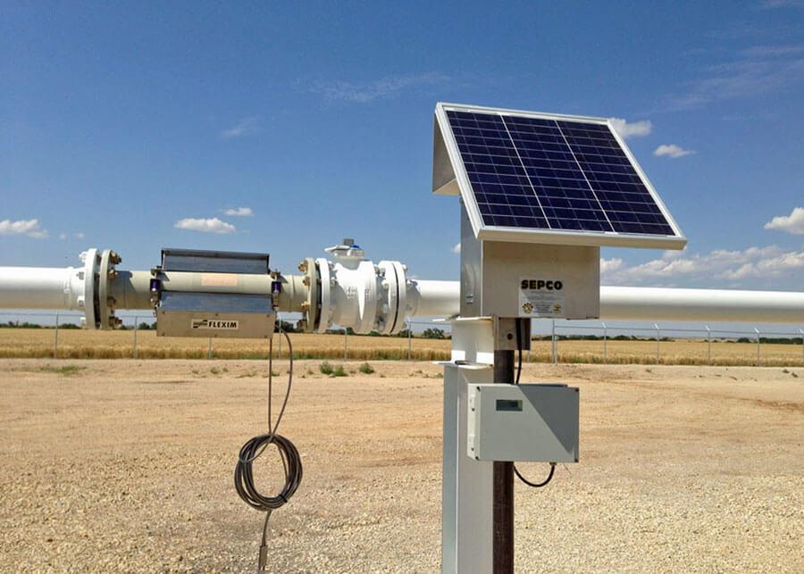 Flexim Solar Powered Flow Meter