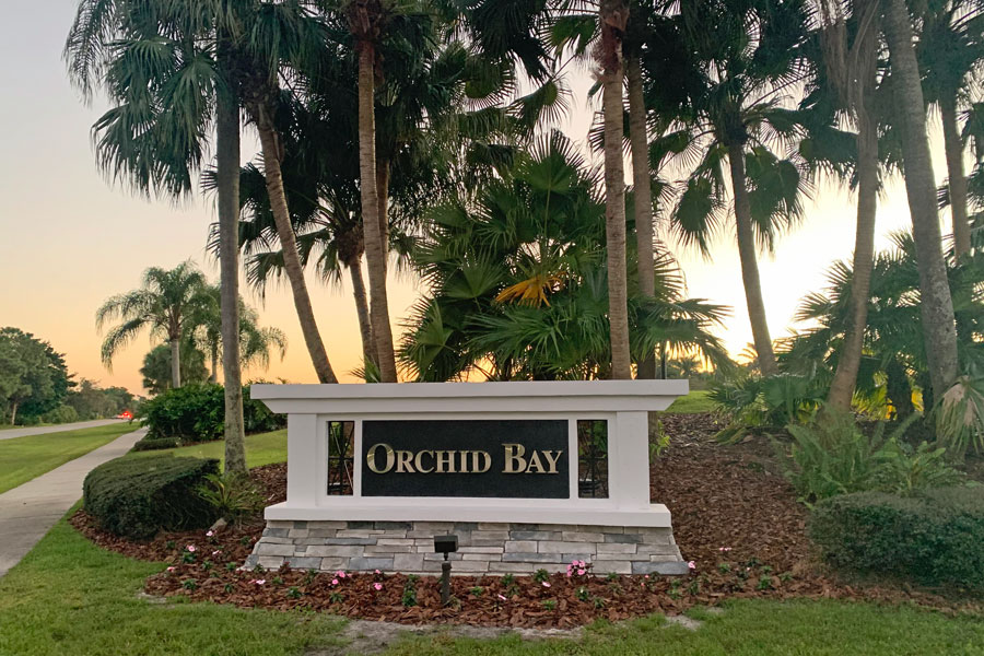 Orchid Bay Monument Solar LED Sign Light System