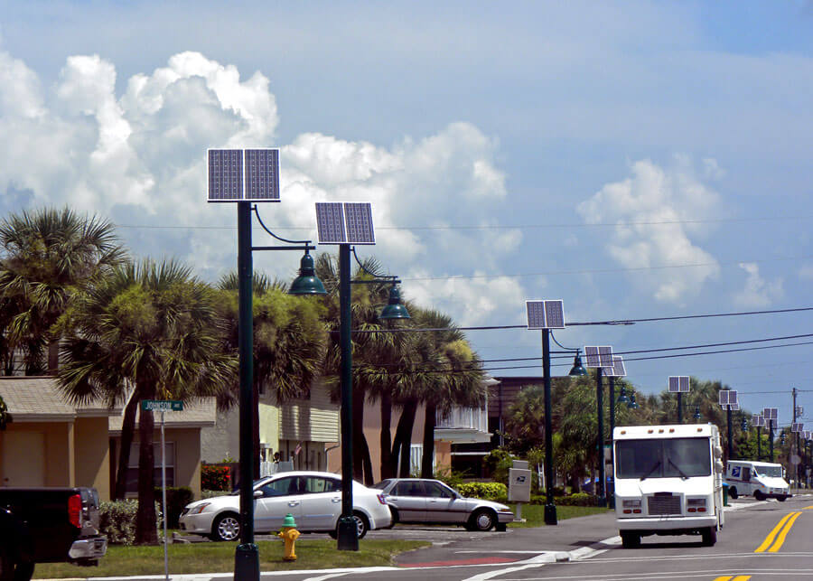 Cape Canaveral Turtle Friendly Solar Street and Pathway Lighting Systems