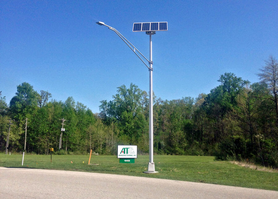 decorative solar lighting. ATTC Manufacturing. Entrance Roadway Solar LED Lighting Decorative