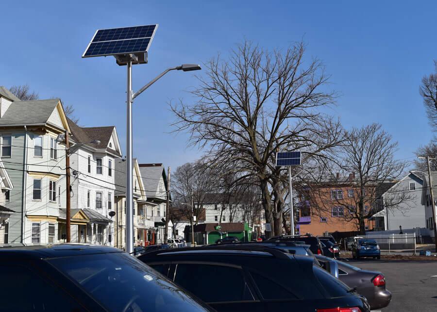 Lawrence Medical Solar Parking Lot Lighting
