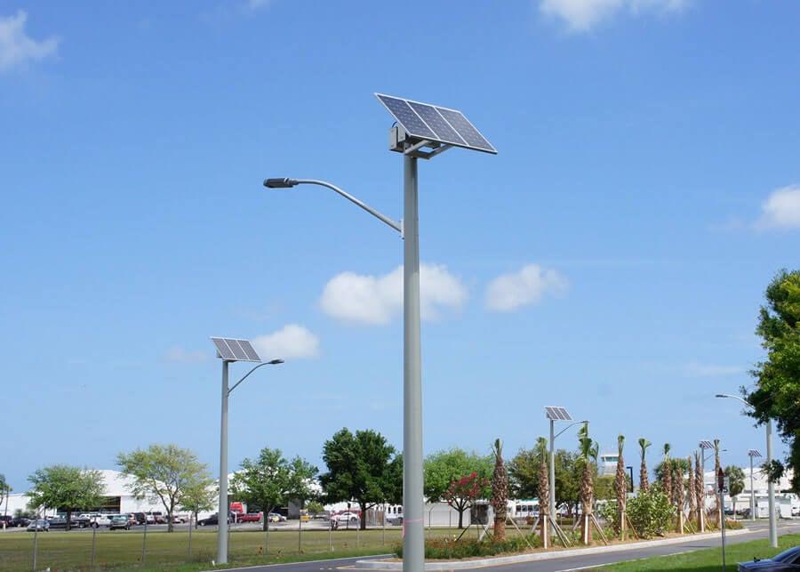Martin County Airport SolarViper Solar LED Roadway Lighting