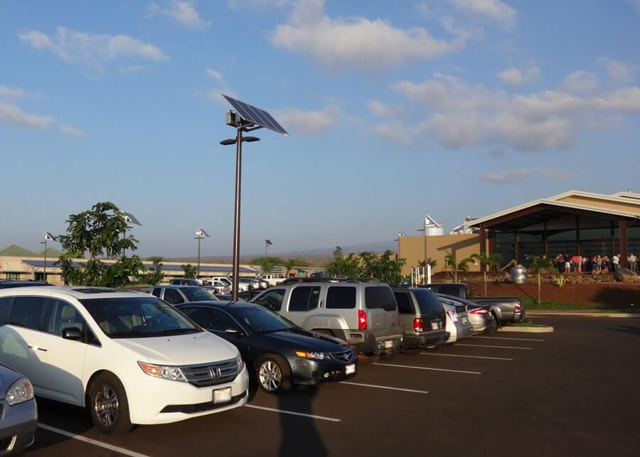 Maui Brewing SolarViper Solar Parking Lot Light