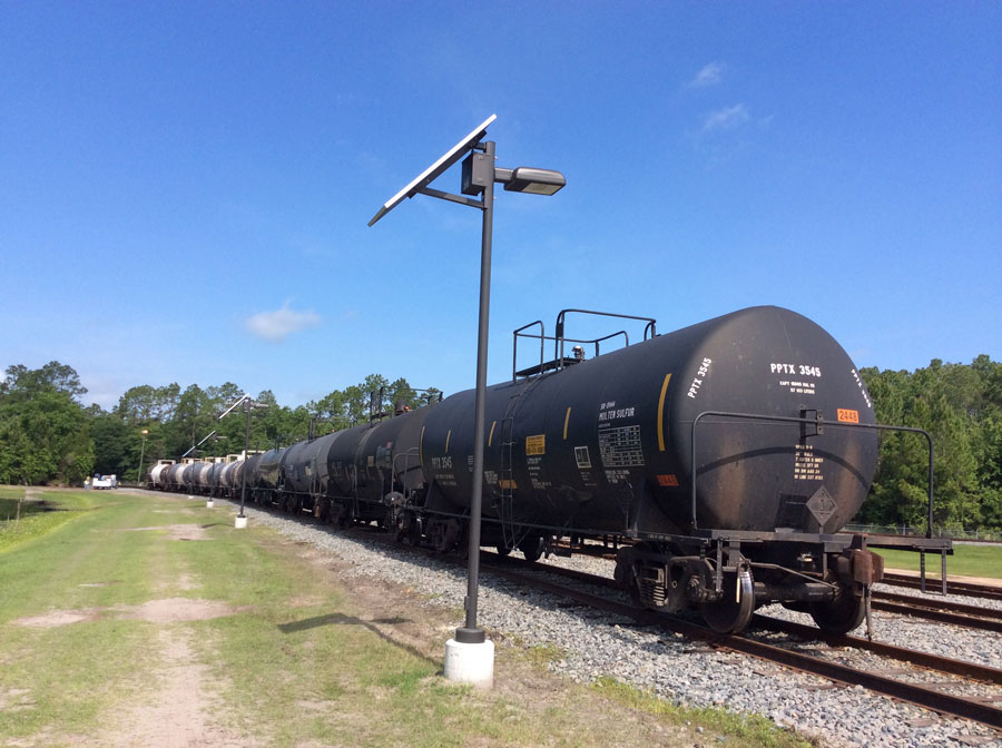Cogburn Bros Railroad Switchyard LED Solar Security Light